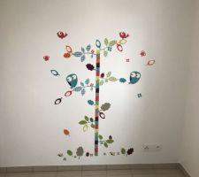 Stickers de la chambre du petit fini