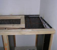 coffrage pour plan de travail en beton