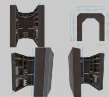 Réflexion sur l'aménagement du dressing, capture du configurateur Ikea. (je conseil d'afficher l'image et de zoomer pour voir quelque chose)