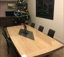mise en place vitre de protection sur la table