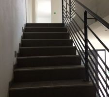 Rambarde de l'escalier terminée