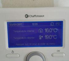 Et voilà le chauffage est en route :-)