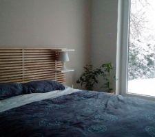 Chambre en cours d'aménagement : vue sur la neige ^^