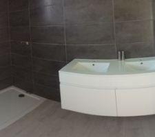 Salle de bain, pose meuble Double vasque