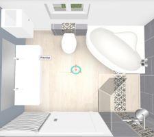 reflexion salle de bain et carrelage