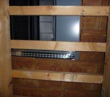 Le kit intersole vu d'en dessous (du grenier)