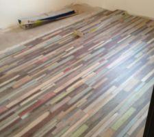 Chambre Nono : peintures et sols quasi terminés