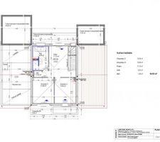 Plan de maison moderne à étage à colomiers