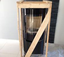 Livraison de notre poêle à bois de 120kg