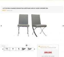 je cherche des chaises