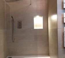 SDB : douche NK et niche avec spot LED