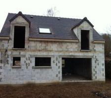Couverture terminée & fenêtre de toit  posée