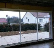 baie vitree 4m cote terrasse