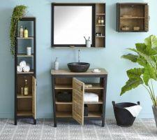 Achat du meuble sous vasque ainsi que du miroir