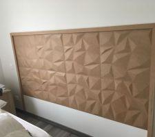 Tête de lit en fibre de bois reconstitué