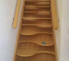 escalier a pas decale