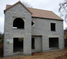 Couverture terminée façade avant