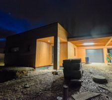 eclairage exterieur carport et entree