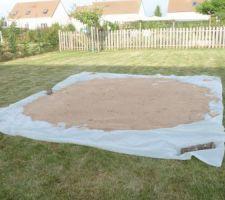 Déjà le 22 juillet. Mais, une piscine a encore une utilité. Ca sera une piscinette INTEX de Ø 3m