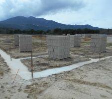 Fondations nettoyées