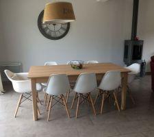 Voici mes nouveaux meubles , table Alinea , chaises imitation Eames