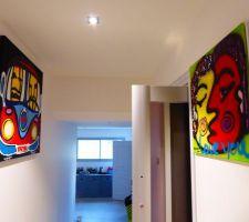 peintures accrochees
