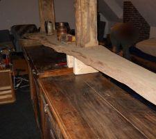 Fabrication du bar, 100% artisanal avec matériel de récup et un peu d'imagination !