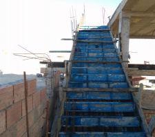 Escalier prêt à être coulé