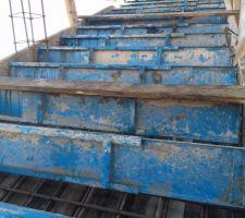 Coffrage et ferraillage de l'escalier (corrigé)