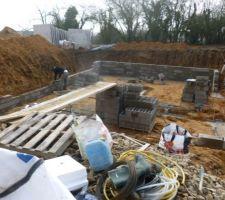 Élévation des murs du sous-sol