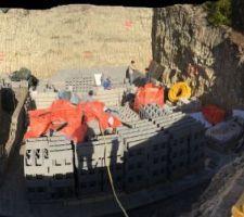 Work in progress- les murs du sous sol montent