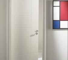 Porte intérieur pré peinte blanche modèle ARCHI