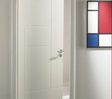 porte interieur pre peinte blanche modele archi
