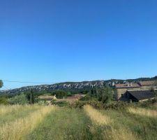 Vue depuis l'emplacement de la terrasse...SUD-EST