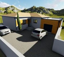 simulation 3d de l entree de la maison production visuelle personnelle