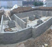 Montée des murs du vide sanitaire