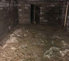 Vide sanitaire de 1m80 qui sera utilisé comme cave.