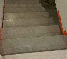 escalier beton mineral