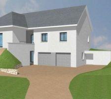 maison en autoconstruction sur sous sol et combles amenageables