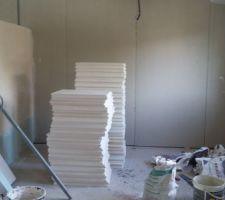 Montage des cloisons en carreau de plâtre R+1