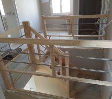 Escalier palier