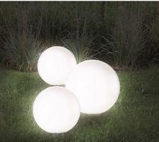 Boules lumineuses 15, 20 30 cm de diametre
