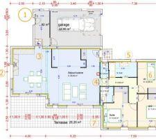 Plan final de la maison (107m²)