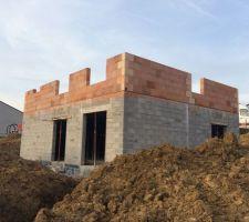L'élévation des murs du rez de chaussée