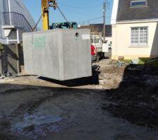 Mise en place du récupérateur eau pluviale 3000l