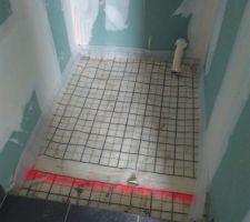 Préparation pour pose receveur de douche