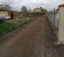 Chemin d'accès chantier terminé !