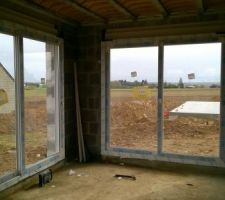 Vue des deux baies vitrées
