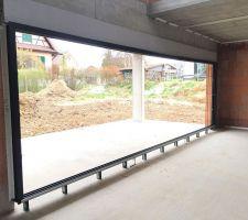 chassis pour la baie vitree de 7m