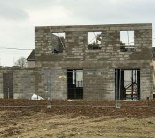 elevation des murs du 1er etage facade arriere